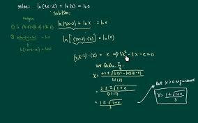 how to solve ln equations ln 3x 2 ln x ln e