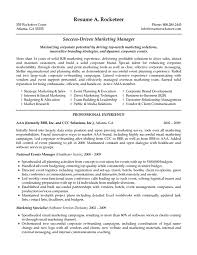 Sample Resume For Experienced Sales And Marketing Professional Sample Resume For Sales And Marketing Position Bb Marketing Manager 19