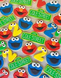 43628690 2nd Birthday Cake Cookie Monster Elmo Kids Sesame
