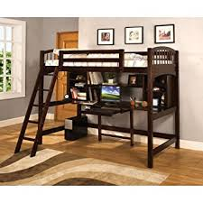 get quotations furniture of america bowery bookcase twin loft bed espresso cheap loft furniture