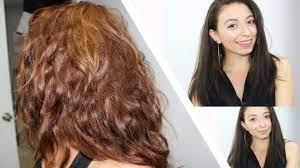 dying my hair dark brown using garnier