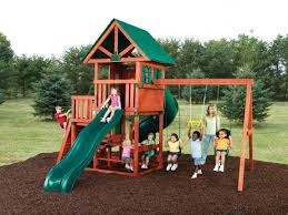 swing and slide southampton wooden playsets with swings for kids playground ideas
