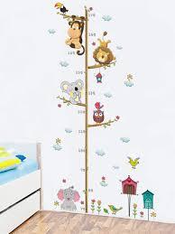 Animal Height Chart Wall Sticker