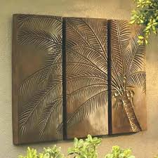 metal wall art palm trees tree decor gorgeous outdoor a