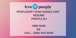 People Soft Consultant Resume Mesmerizing PeopleSoft HCM Consultant Resume Profile NJ Hire IT People We