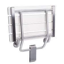 folding shower seat wall bracket mount
