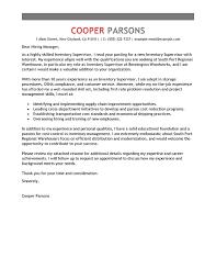 Warehouse Supervisor Cover Letter Example Best Inventory Supervisor Cover Letter Examples Livecareer