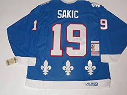 Quebec Signed Vintage Collectibles Coa Store Ccm Jersey Proof Hof Sports Amazon's Joe Sakic At Jsa Nordiques