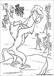 The Lion King Coloring Pages On