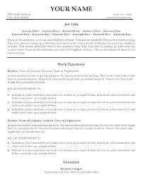 Good Resume A Good Resume Title What Is A Resume Title Examples Good Resume
