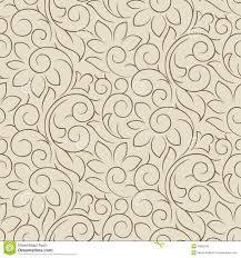 Seamless Fancy Vector Floral Wallpaper Stock Vector Illustration