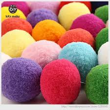 How To Make Fluffy Decoration Balls Let's Make 100pclot Plush Ball Felt Soft Balls Fluffy Balls 47