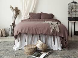 rustic rose linen duvet cover us queen