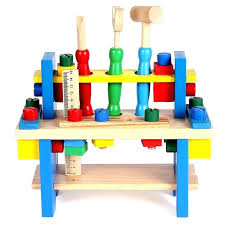 wood toy work bench bay toys children educational combines the tools small wooden project workbench nut