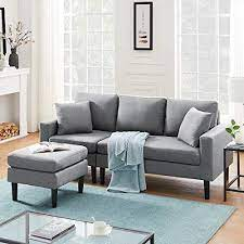 sleerway sectional couch with ottoman
