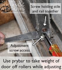 adjust rollers