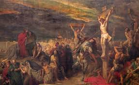 Image result for pictures of people around the cross of Christ watching