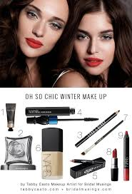 today tabby shares a chic make up look that s perfect for brides planning winter weddings