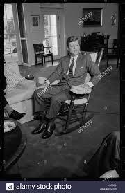 jfk in oval office. John F. Kennedy Sitting In His Rocking Chair The Oval Office. Jfk Office