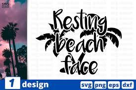 Beach svg, resting beach face, beach clipart, honeymoon shirt, svg designs, beach please, beach wedding, vacation shirt, sunglasses svg. 1 Resting Beach Face Summer Graphic By Svgocean Creative Fabrica