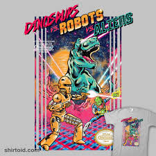 Zombie Alien Robot Venn Diagram Dinosaurs Vs Robots Vs Aliens Shirtoid