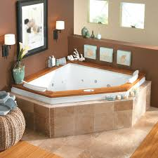 ... Bathtubs Idea, Charming Corner Jet Tub Bathroom Ikea With Lamps And  Chair And Towels And ...