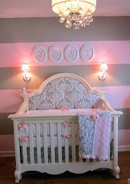 fabric for baby nursery pink and gray j reality home extra custom crib bedding ordered headboard