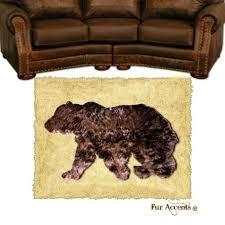 walking bear skin rug area rug wall