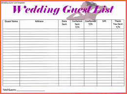 wedding spreadsheet 4 wedding guest list spreadsheet expense report