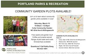community garden plots available in cully join portland parks and recreation to learn about community gardens in cully