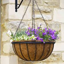 metal hanging baskets with liners