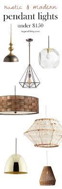rustic pendant lighting. 8 Fave Modern-Rustic Pendant Lights For Under $150 #homeimprovement Rustic Lighting