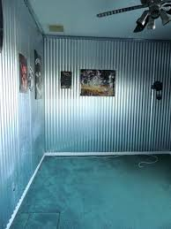 galvanized metal accent wall tin walls in garage interior corrugated metal home interior ideas pictures galvanized metal accent wall