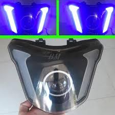 Pha đèn Led Audi kết hợp Gương cầu cho Exciter 150