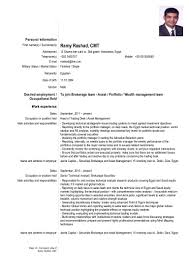 Financial Resume samples VisualCV resume samples database