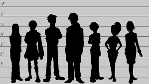 Police Lineup Height Chart Helix Industries Height Chart Wip Silhouettes Etcetera