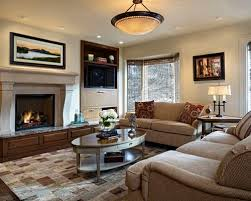 family room lighting. elegant dark wood floor family room photo in denver with beige walls a standard fireplace lighting n