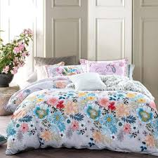 tropical duvet covers fl leaf print bedding sets queen cotton bed king