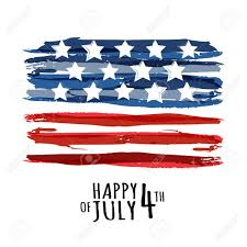 Happy 4th Of July Usa Independence Day Vector Abstract Grunge