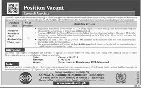 comsats institute of information technology islamabad jobs on  comsats institute of information technology islamabad jobs