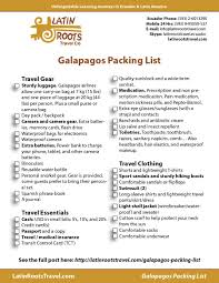 Free Galapagos Packing List (Downloadable Pdf) | Latin Roots Travel ...