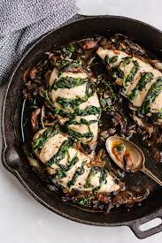 The skinless chicken breast is one of. Goat Cheese Spinach Stuffed Chicken Breast With Caramelized Onions Mushrooms Ambitious Kitchen