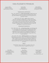 Photographer Resume Skills Elegant Photography Resume Skills Graphy ...