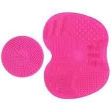 amazon makeup brush cleaning mat esarora makeup brush cleaner pad set of 2 cosmetic brush cleaning mat portable washing tool scrubber suction cup