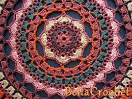 Free Crochet Mandala Pattern Custom Crochet Mandala Rug Pattern Artistic DIY Ideas Video Tutorial