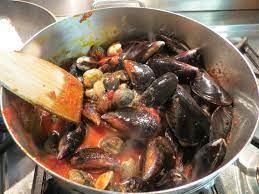 zuppa di cozze e vongole