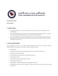 Job Description For Interior Interior Designer Job