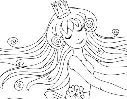 Disegno Di Principessa Dolce Da Colorare Stampare O Scaricare