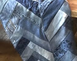 Denim quilt | Etsy & Recycled Denim Blanket, recycled Denim, Chevron, Herringbone, comforter,  quilt, Denim Adamdwight.com