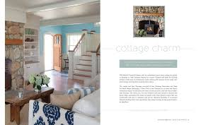 first and second pages of article in cape cod home called cottage charms featuring